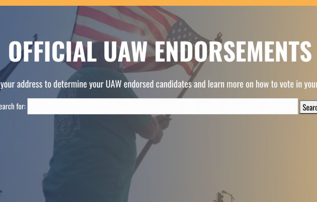 UAW Endorsements